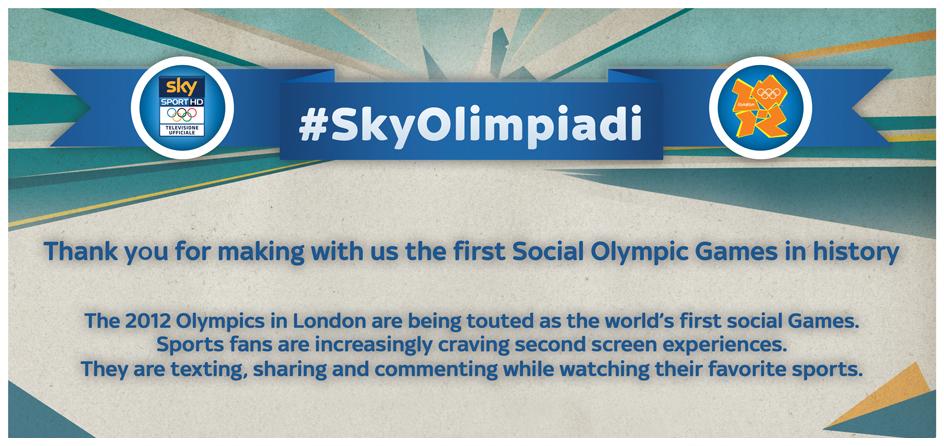 Quali scenari per il marketing sportivo e la social TV? Dopo #SkyOlimpiadi, #SkySerieA, #SkyUCL e #SkyEL