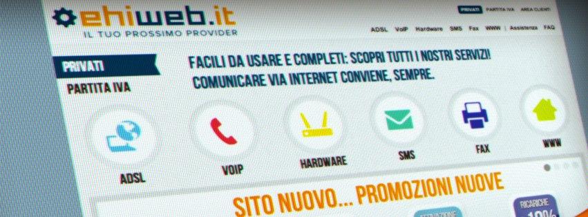 È on-line il nuovo sito Ehiweb. L'e-commerce con una strategia di social marketing