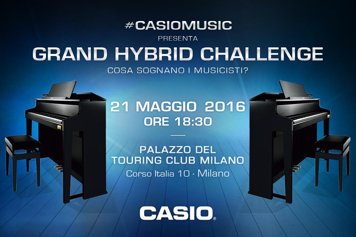 #CasioMusic presenta Casio Grand Hybrid Challenge. Che cosa sognano i musicisti?