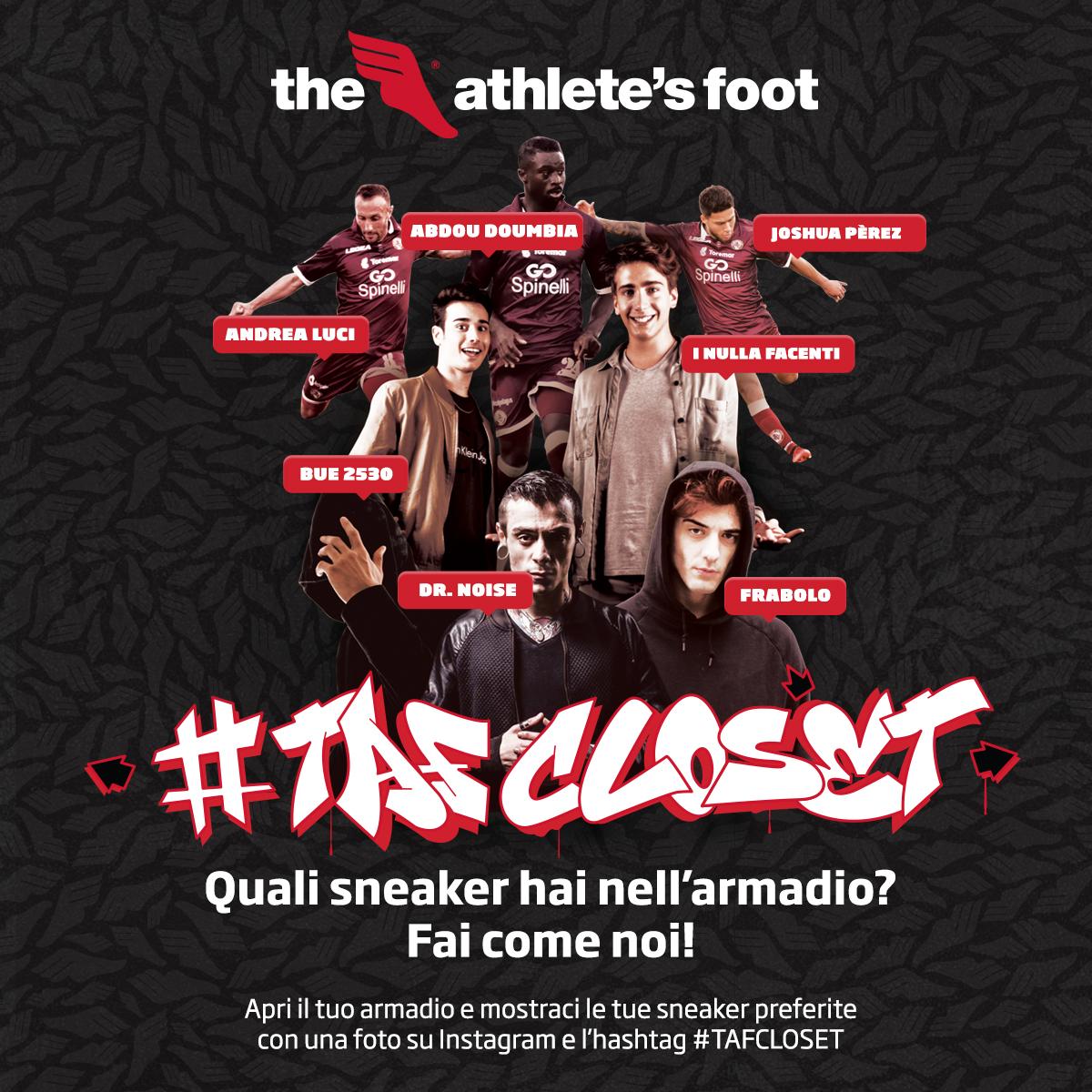 Parte la nostra campagna per The Athlete' s Foot: #TAFCLOSET. Quali sneaker hai nell'armadio?