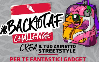 """Partecipa alla sfida: """"#BACKtoTAF challenge. Crea il tuo zainetto streetstyle"""""""